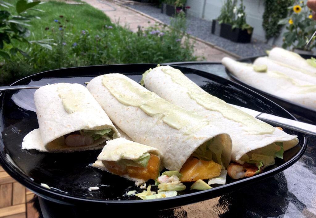 recept zomer wraps gamba mango avocado