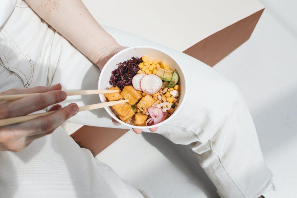 poké bowl vegetarisch tofu