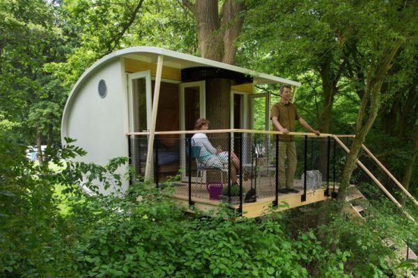 boomhut overnachting nederland flevoland